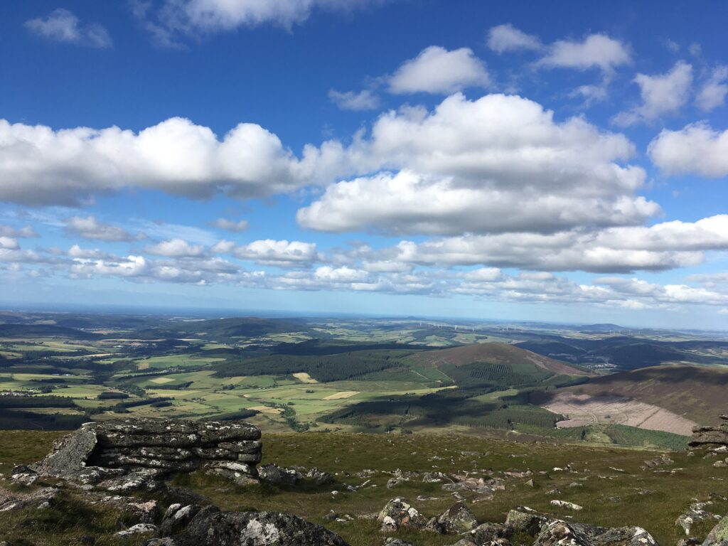 Looking out toward Knockside from the peak of Ben Rinnes